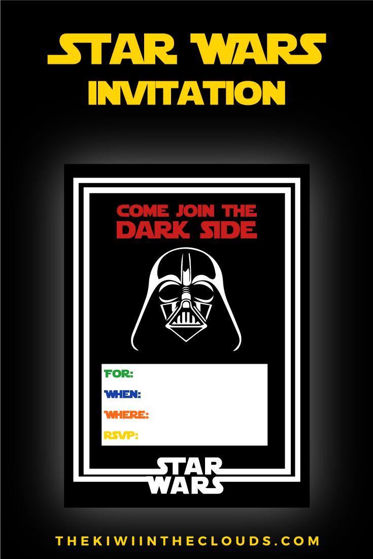 Best Star Wars Images On Pinterest Star Wars Party Star - Star wars birthday invitation maker