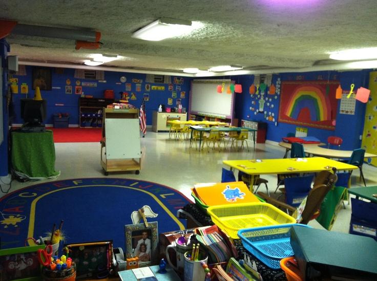My rainbow themed classroom!!! :)