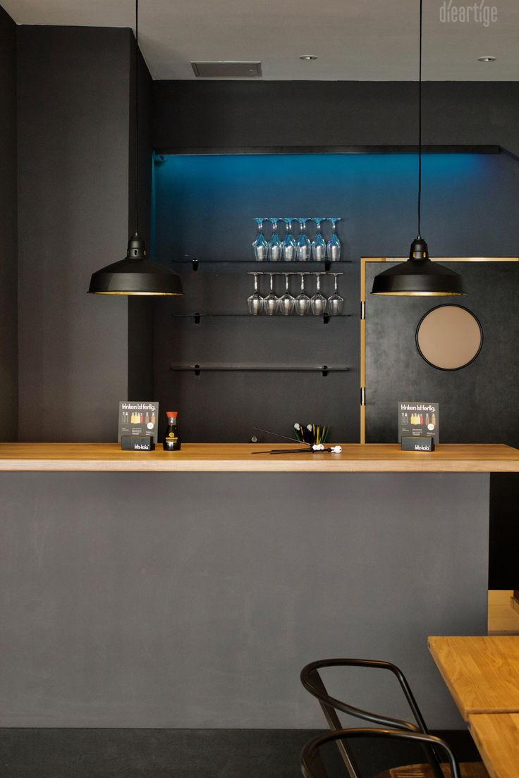 Fancy dieartige Raumplanung Sushibar Bar in Anthrazit
