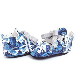Delfts Blauw handgemaakt babyschoentjes - Studio LL - handmade babyshoes Delft Blue