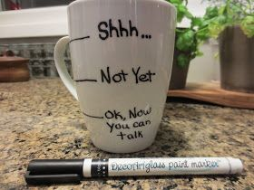 Living On Air: The Full Lowdown on Writing on Mugs with Sharpies! Use oil based sharpies to write on mugs