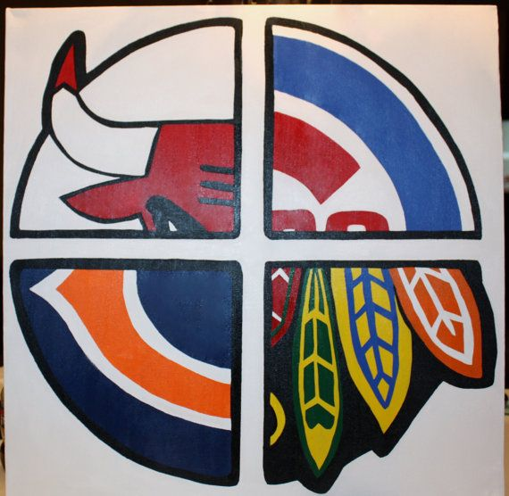 Chicago Sports Canvas by BelmontAndBedford on Etsy