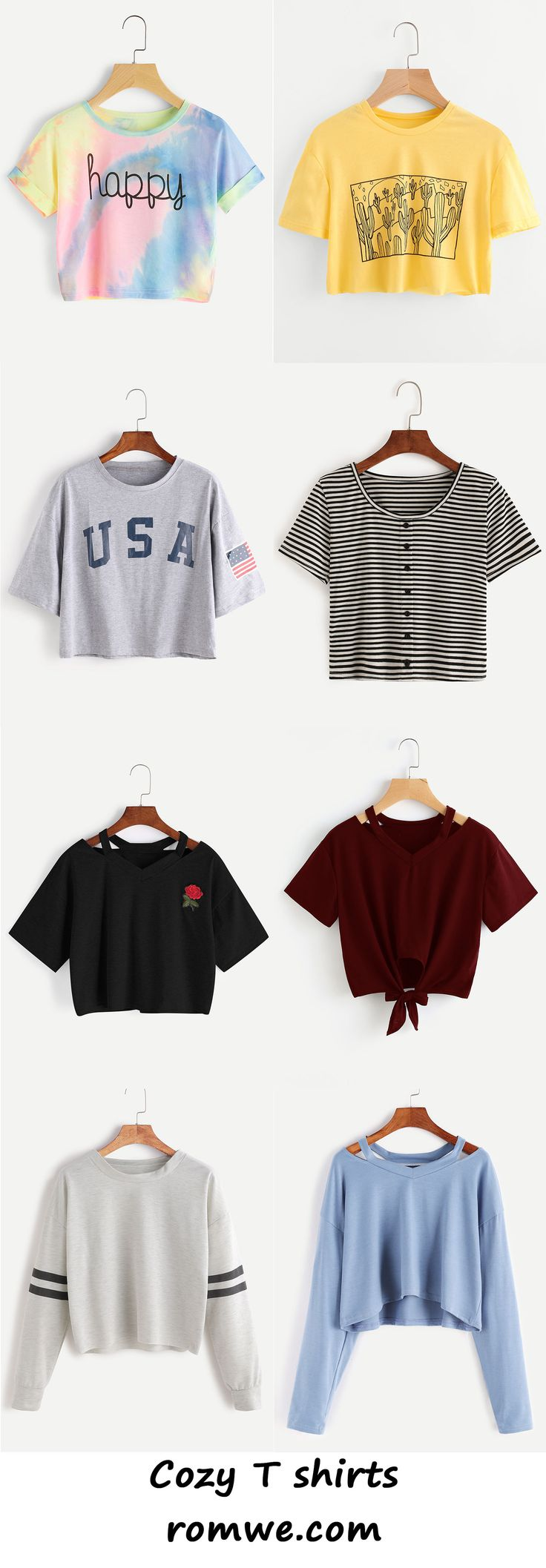 cozy t shirts with soft material and great price from romwe.com