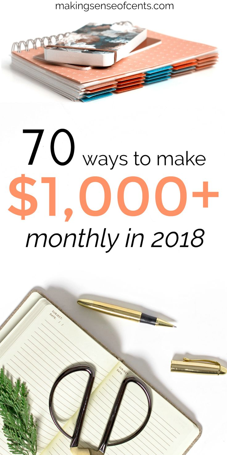 70 ways to make $1000+ monthly so that you don't have to worry about money anymore. Make money online ideas | Start your own business ideas | Quick ways to earn money |