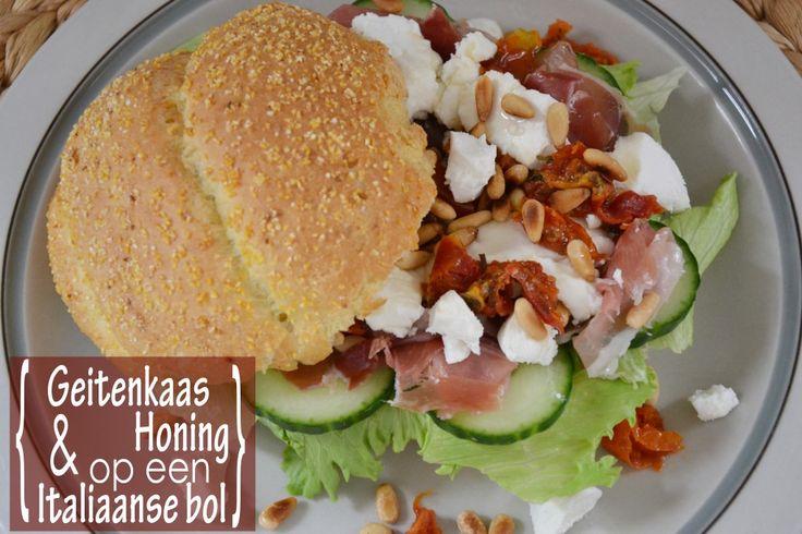 Geitenkaas & Honing op een Italiaanse bol