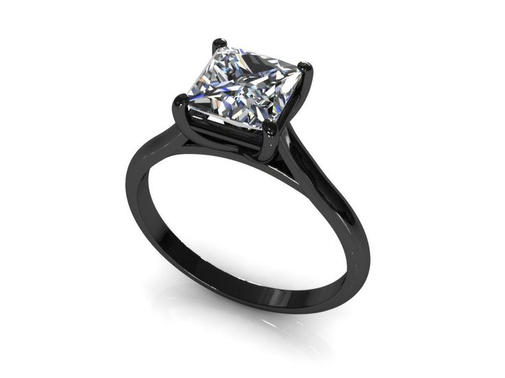 Charming Wedding Rings | Black Band Princess Cut Engagement RingsWedding .