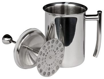 Milk Frother, Mirror Finish, 18 Ounces - contemporary - coffee makers and tea kettles - Frieling USA, Inc.