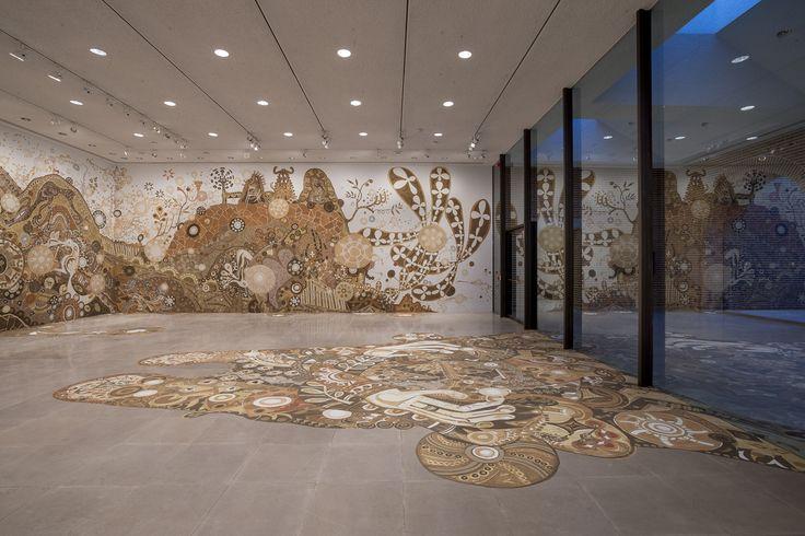 Painting with soil, artist Yusuke Asai | yamatane — Rice Gallery