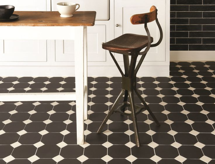 Monochrome is always popular, so Victorian Floor Tiles can add a dramatic edge with the use of pattern. The York pattern, shown here in black and white, is simple but gorgeous. originalstyle.com
