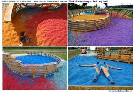 how to make colored sand for sandbox