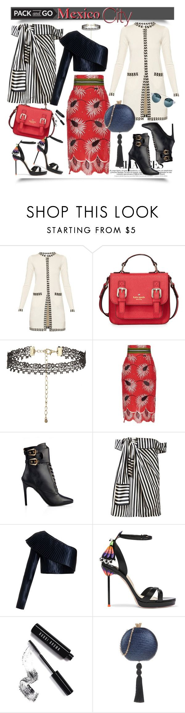 """""""Mexico City: Pack & Go!"""" by esch103 ❤ liked on Polyvore featuring Diane Von Furstenberg, Kate Spade, New Look, Stella Jean, Balmain, Monse, Sophia Webster, Bobbi Brown Cosmetics, Hoss Intropia and polyvoreeditorial"""