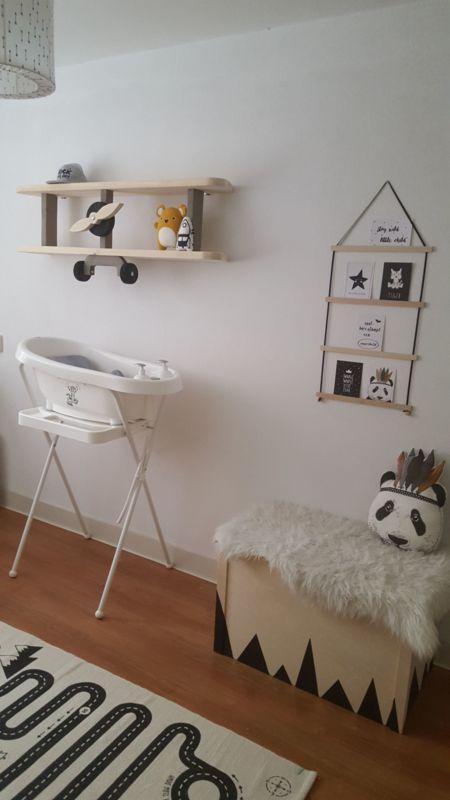 Babykamer Steigerhout Wit.Vliegtuig Wandplank Op Babykamer Van Priscilla Klantfoto In Kleur