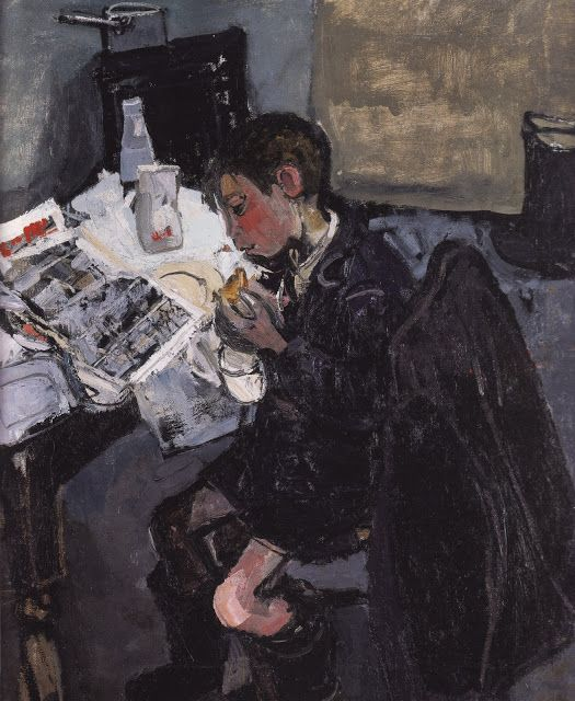 'Andrew With a Comic' (1955)  Joan Eardley