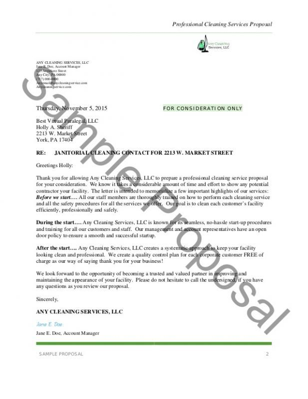 Proposal For Services Proposal Letter Business Proposal