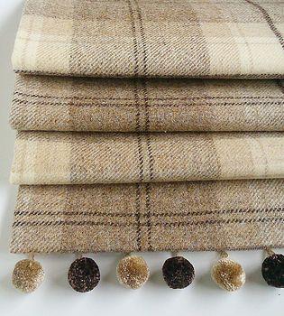 Natural Tweed Roman Blind