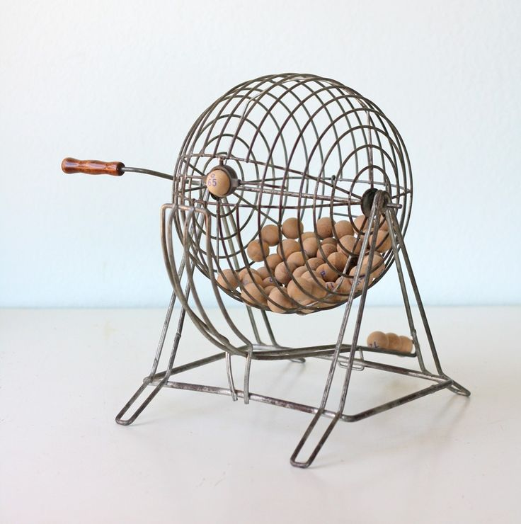 lottery cage https://www.etsy.com/listing/63132626/vintage-bingo-cage-with-wooden-balls
