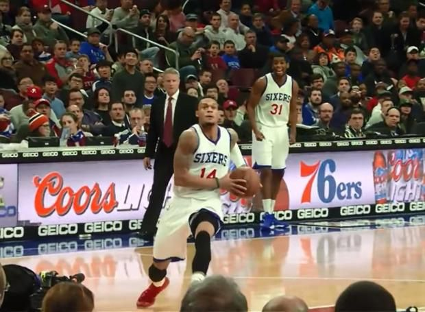 Philadelphia 76ers player K.J. McDaniels has been the biggest surprise of the loaded 2014 NBA Draft.  On a Philly team that has been one of the worst in NBA history (on purpose), he has been a bright spot.