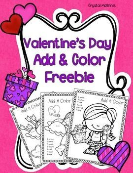 f0f0827d0b6abe0f70729c24a35fa77d valentine ideas valentines day - This little pack gives you 5 Valentine themed add and color printables to help y...