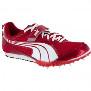 SALE - Mens Puma TFX 2 Pro Athletic Cleats Red Leather - Was $100.00 - SAVE $50.00. BUY Now - ONLY $49.95