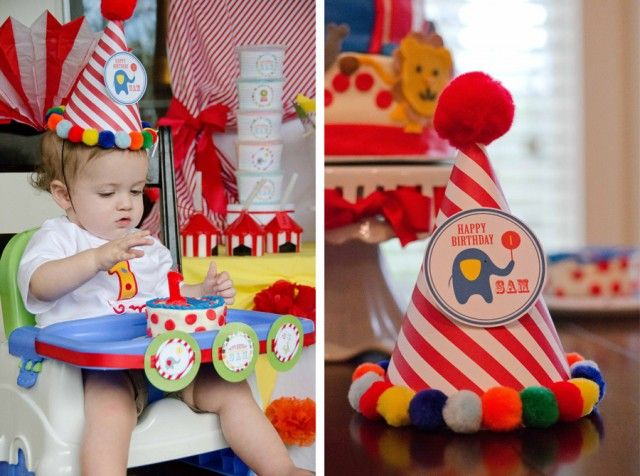 circus birthday party ideas | Whimsical Circus First Birthday Party : Anders Ruff Custom Designs :