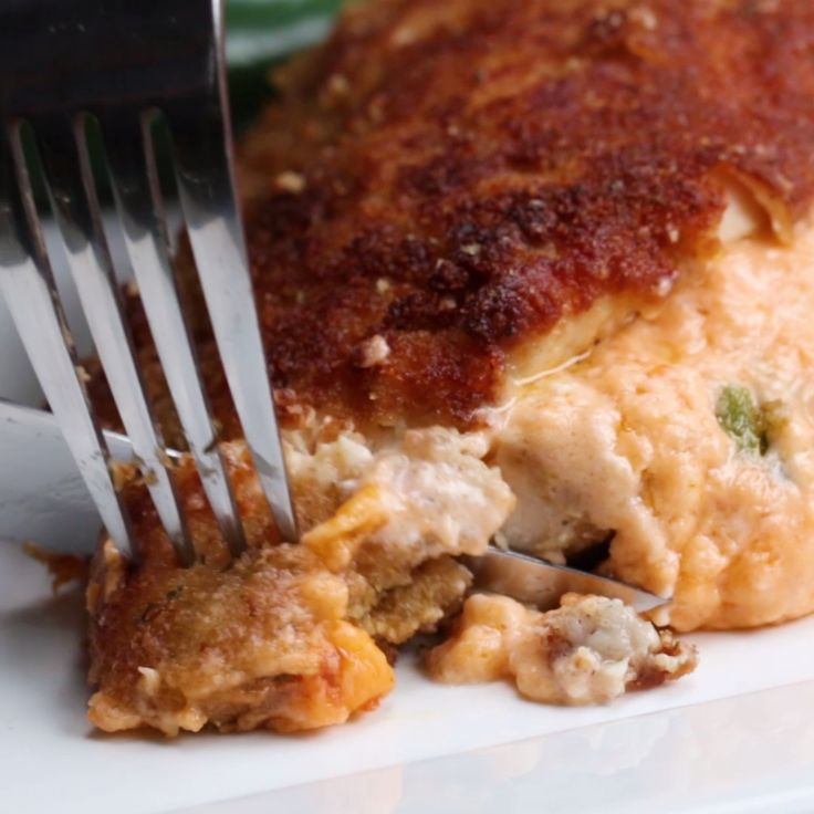 Jalapeño Popper Dip-Stuffed Chicken