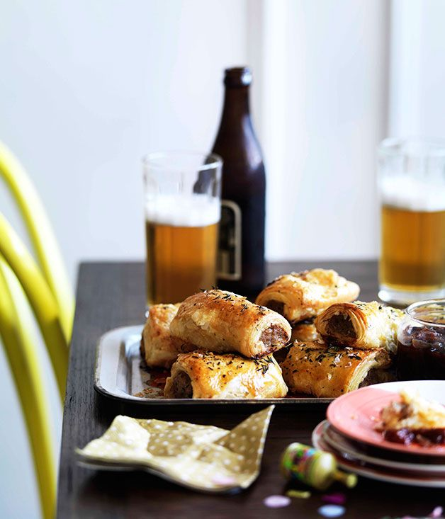 Bangalow pork sausage rolls with caramelised apple and thyme - Gourmet Traveller