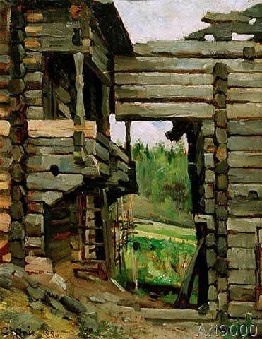 Akseli Gallen-Kallela - Heuschober in Korpilahti (81,0 x 105,0 cm)