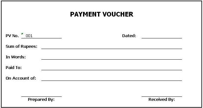 Cash Payment Voucher Template