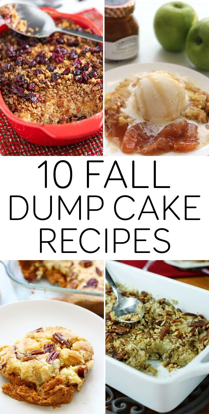 10 Fall Dump Cake recipes for you to try and share. Dump cakes are so easy and everyone loves them. Just a few ingredients and a little time!