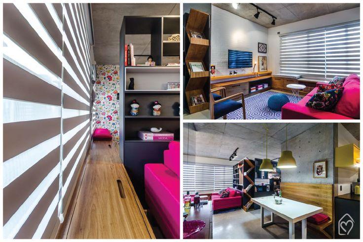 O apartamento do dia é cheio de cores, estampas e personalidade, super inspiração pra quem ama cores mas tem medo de errar!