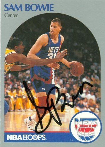 Sam Bowie autographed Basketball Card (New Jersey Nets) 1990 Hoops #194 by Autograph Warehouse. $25.95. Sam Bowie autographed Basketball Card (New Jersey Nets) 1990 Hoops #194