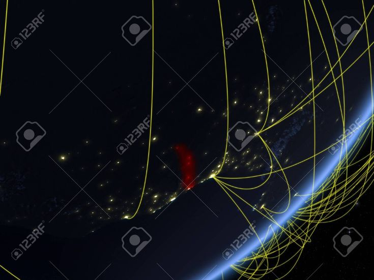 Togo on model of planet Earth with network at night. Concept of new technology, communication and travel. 3D illustration. , #AD, #Earth, #network, #p…
