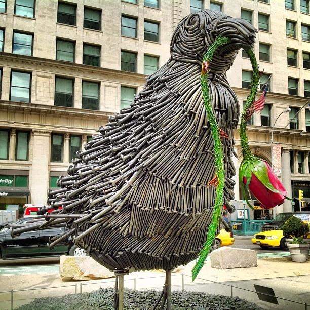 Bird sculpture at 5th Av and 23rd Street