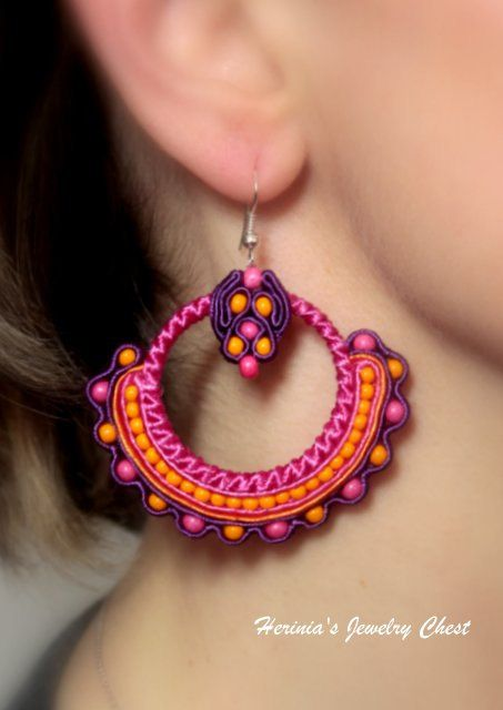 Ethnic Earrings Boho Earrings Boho Jewelry Hippie by Herinia, $35.00