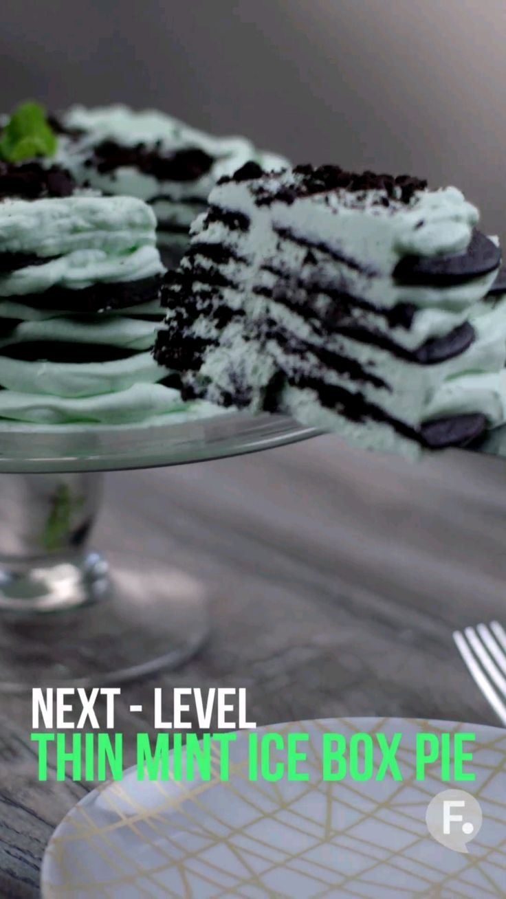 Next-Level: Thin Mint Ice Box Pie