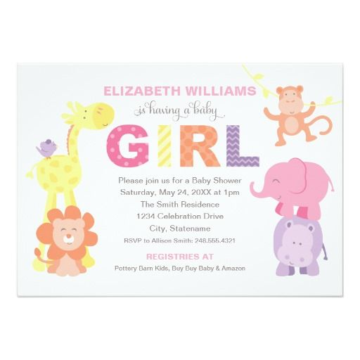 Best Jungle Baby Shower Invitations Images On