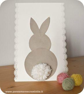 Easter card 3d - http://blog.funlab.it/2012/04/come-fare-un-biglietto-di-pasqua-con-coniglietto-e-pom-pom/