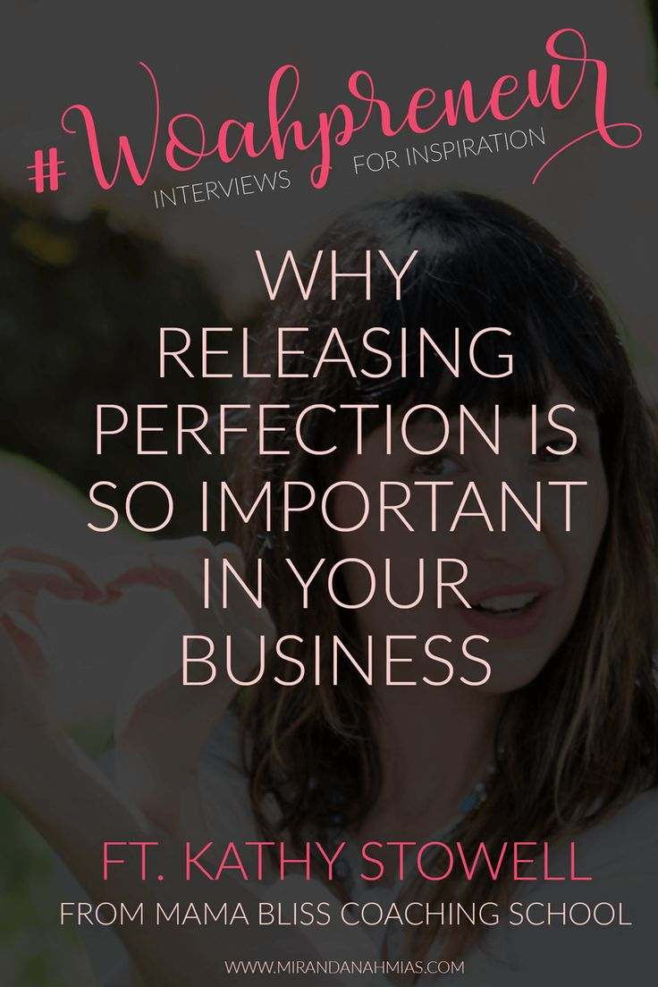 Why Releasing Perfection is So Important in