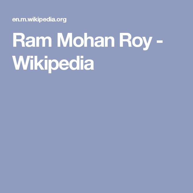 Ram Mohan Roy - Wikipedia
