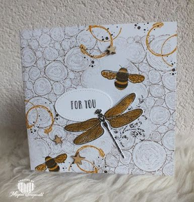 Magical Scrapworld: For you, cards, detailed dragonfly, dragonfly dreams, Stampin' Up!, timeless textures, tree rings