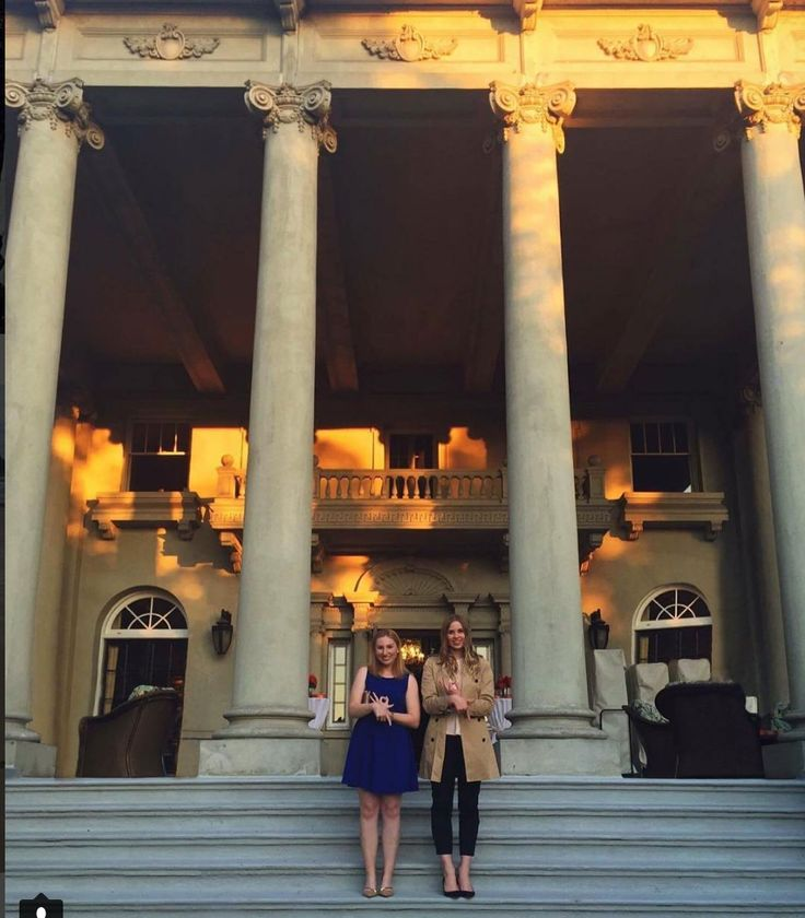 Sister's Samantha and Michelle at a #WomenInPR official event at Hycroft. #KappaBetaGamma