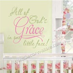 ALL OF GOD'S GRACE Nursery Wall Words-All of God's Grace,nursery wall words,nursery wall quote,vinyl wall art,removable wall words, nursery wall stickers,nursery decor, decorative, baby boy wall words,baby girl wall words,gender neutral wall words,nursery wall decal,nursery wall sticker