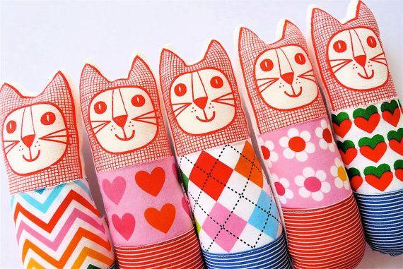 Scandinavian softie toy, mini cat by Jane by Janefoster on Etsy, $20.00