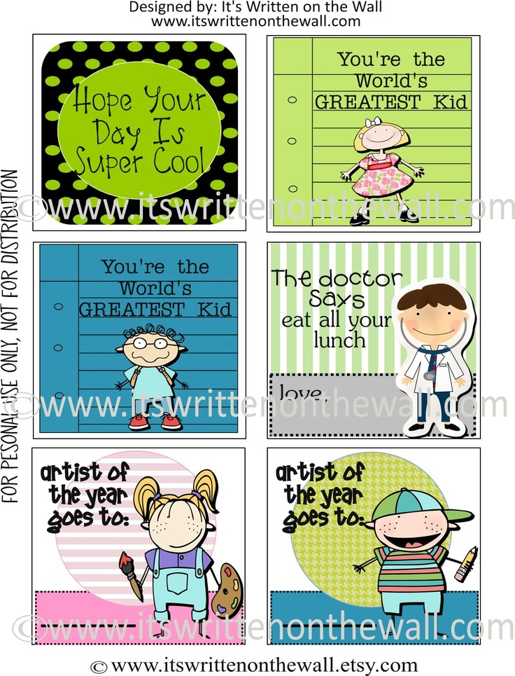 Itu0027s Written on the Wall Free Printables Lunchbox Notes For Kids-8  sc 1 st  Pinterest & 29 best Lunchbox Notes images on Pinterest | Lunch box notes Kid ... Aboutintivar.Com