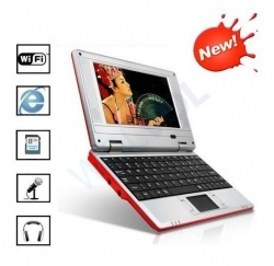 """ANDROID RED 7"""" Mini Laptop Notebook Netbook PC WiFi TONS of Apps and Games Android 2.2 Market Built-in Camera 4gb HD 256mb Ram 2-4HR Battery Life (INCLUDES: Velvet Pouch Case, Charger, Mini Optical Mouse)Product sku: 115Availability: 6Price: $179.99 $119.99"""