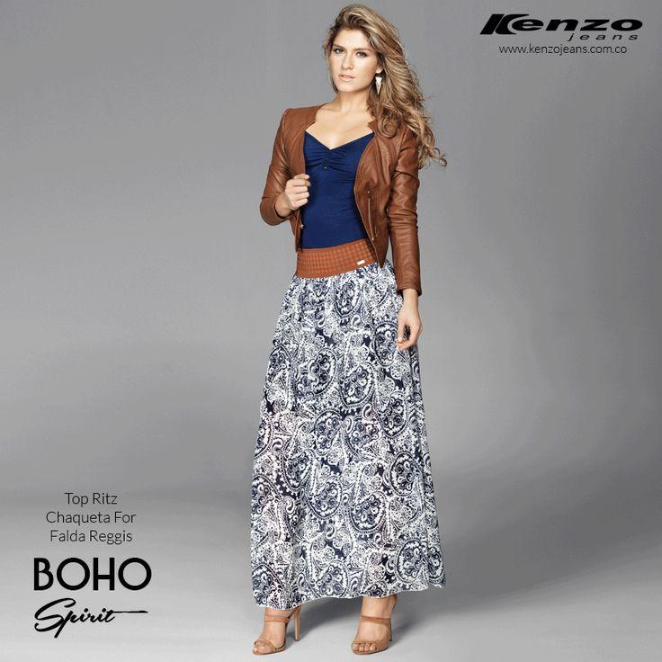 Viernes de moda - Lleva una combinación perfecta de falda y chaqueta, perfecto para disfrutar viernes de día y de noche #BohoSpirit #KenzoJeans Conoce más en www.kenzojeans.com.co