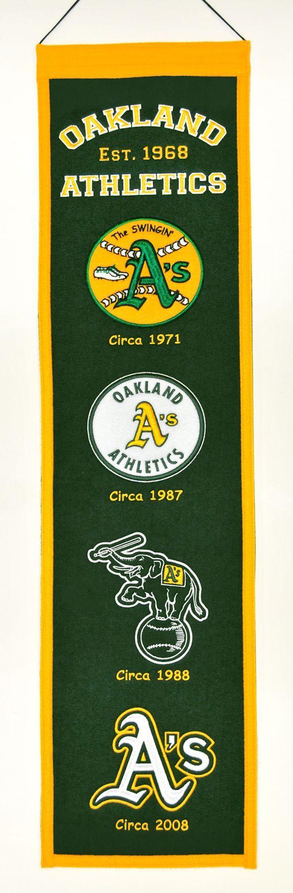 Oakland Athletics Wool Heritage Banner - 8x32