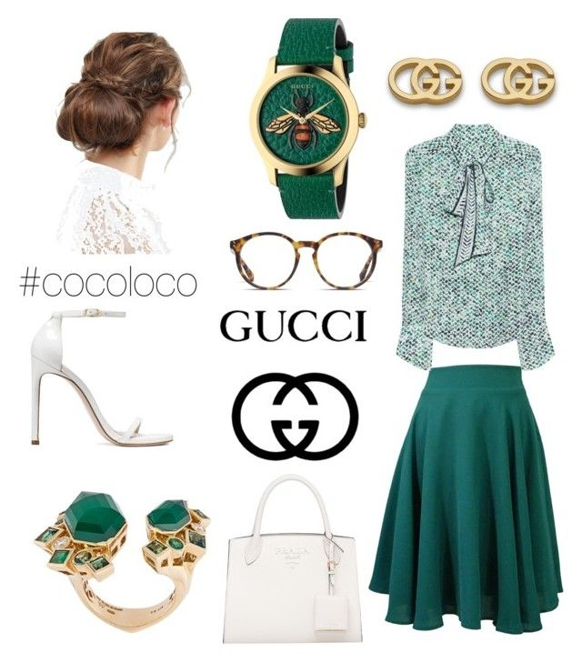 """Green Gucci"" by kaoutar-rayour on Polyvore featuring Lala Berlin, Stuart Weitzman, O'Neill, Stephen Webster, Gucci, ASOS, outfit, class and guccigreen"