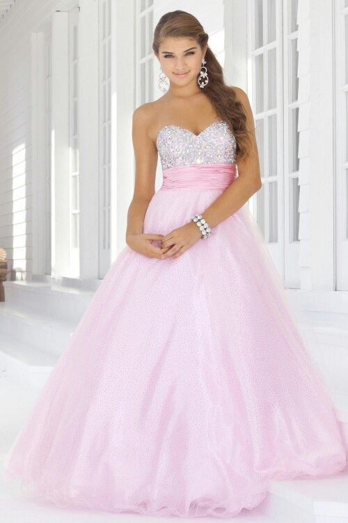 Lovely pink prom dress