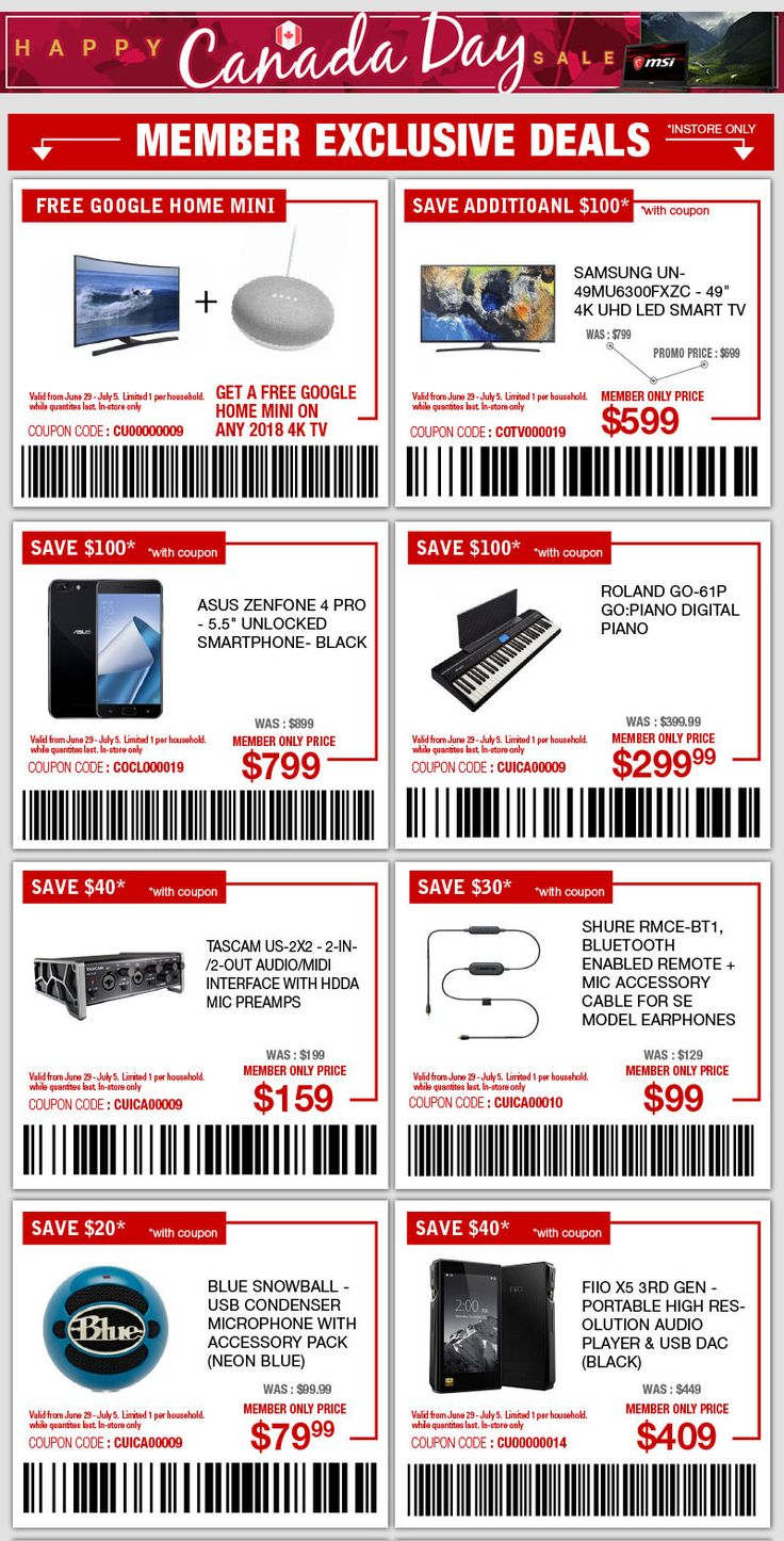Save up to 50 at [Canada Computers] Member Exclusive